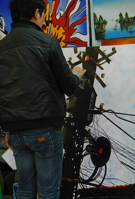 Painting of Electrical Wiring in Hanoi