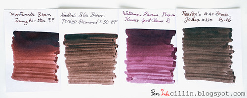 Monteverde Brown 4 ink comparison