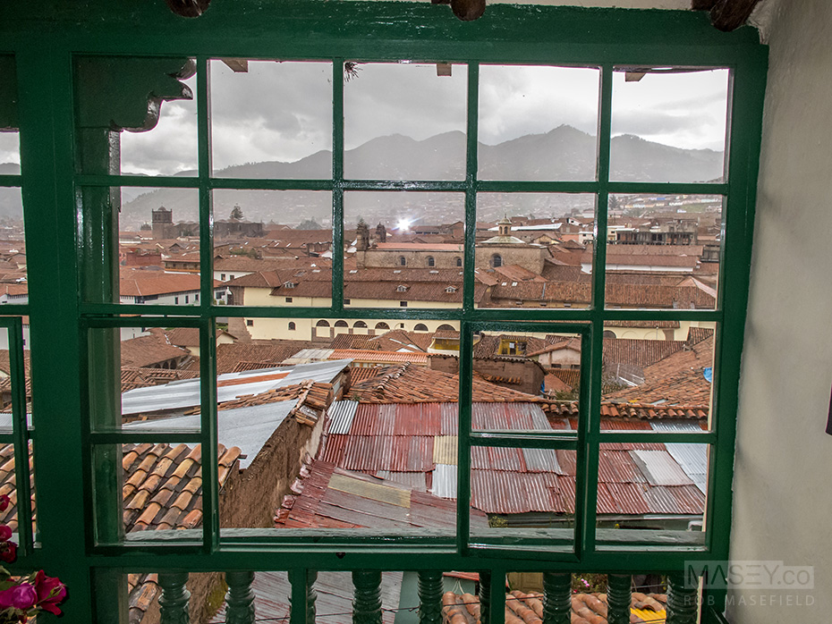 My view from Cuzco's Hostel Corihausi.