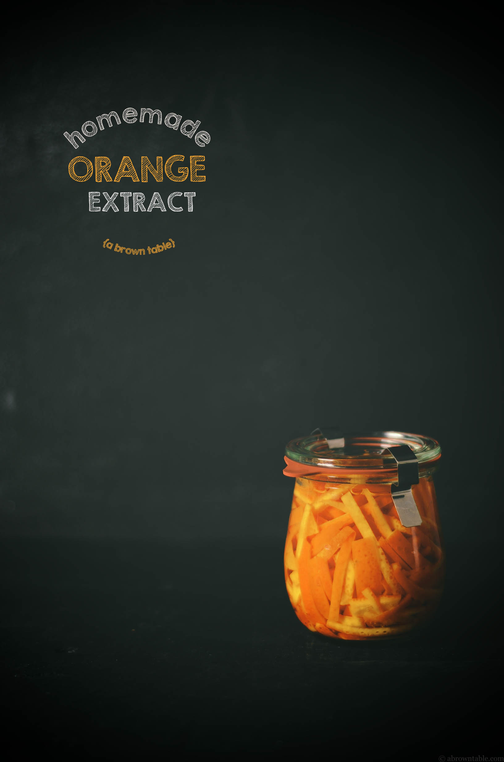 homemade orange extract baking