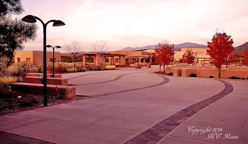 """santa fe"" museums plaza art ""magic hour"" ""golden sunset twilight dusk landscape ""new mexico"" southwest mountains desert"