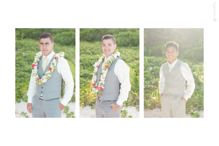 Solo II. groomsmen, vests, island wedding