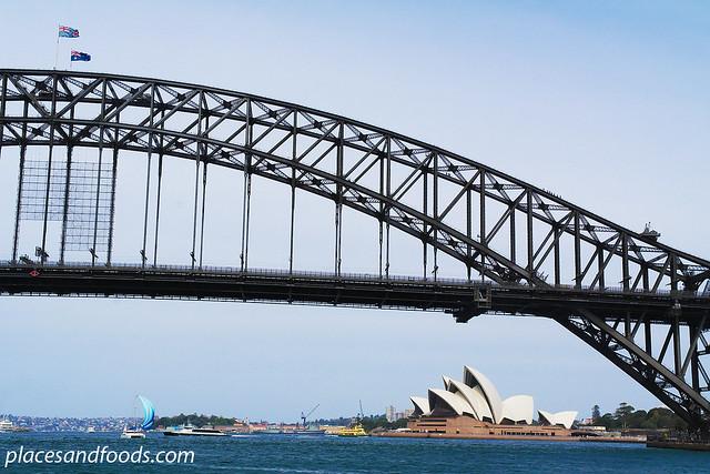 opera house with harbour bridge