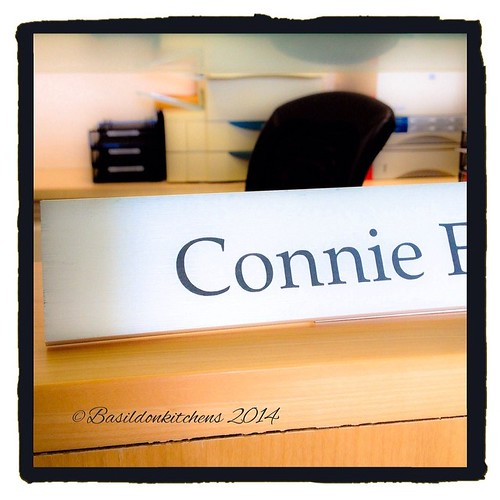 3/3/2014 - my name is... {Connie!  This is the name plate on my desk @ work} #fmsphotoaday #mynameis #nameplate #work #office
