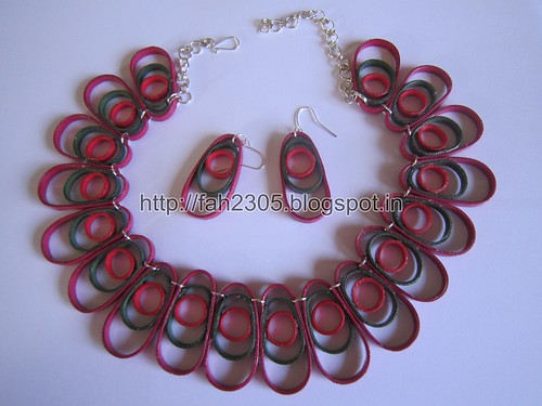 Free Form Quilling - Three Ovals Necklace and Earrings (FAH0236) (3) by fah2305