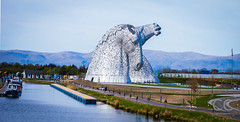 'The Kelpies' designed by Andy Scott....