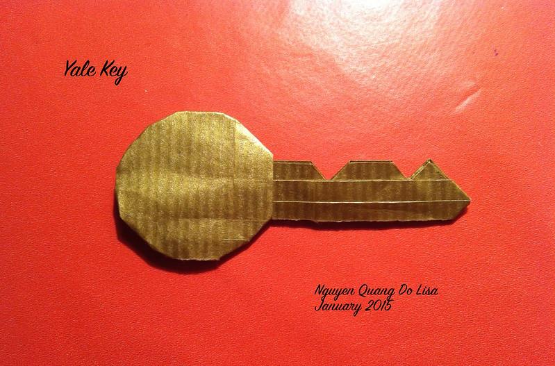 Origami Yale-type Cylinder Lock Key