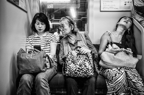 Three women on the Yamanote Line
