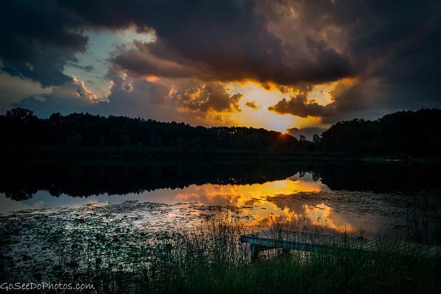 Sunset on Pond 58/100