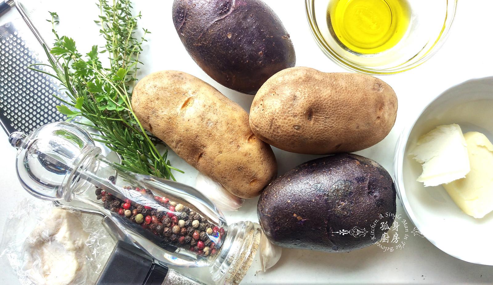 孤身廚房-香草烤雙色馬鈴薯──好吃又簡單的烤箱料理3