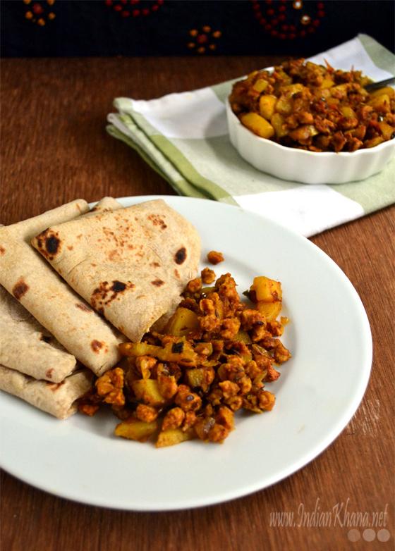 Sukke Aloo Wadi Sabzi recipe
