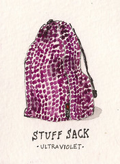 Yarn Stuff Sack sketch by Dan Bransfield