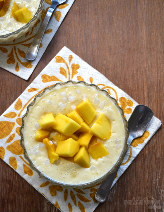 Mango Sago Pudding Recipe