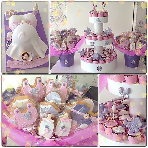 Baby Shower parti ürünleri... #babyshower #babyshowercake #cupcake #babyshowercupcake #babyshowerparty #babygirl #burcinbirdane
