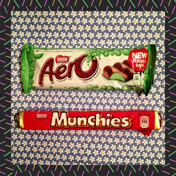 Munchies are my all time favourites #aero #chocolate #mint #munchies