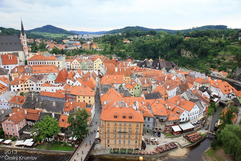 欧洲风情小镇手绘