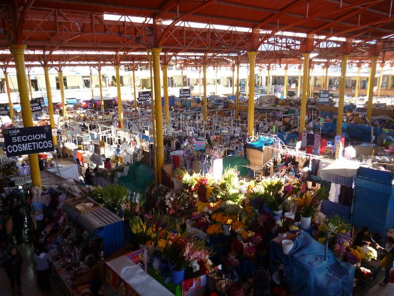 View of the inside of San Camilo market in Arequipa