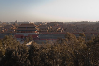 Jinghsan Park overlooking Forbidden City