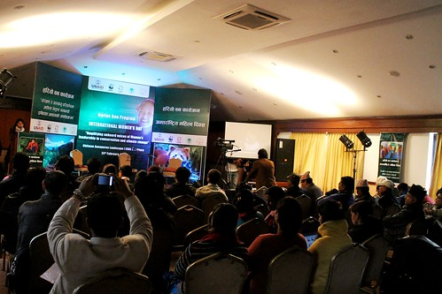 Audience in Pokhara awaits the participants' performance. © WWF Nepal, Hariyo Ban Program/ Pallavi Dhakal