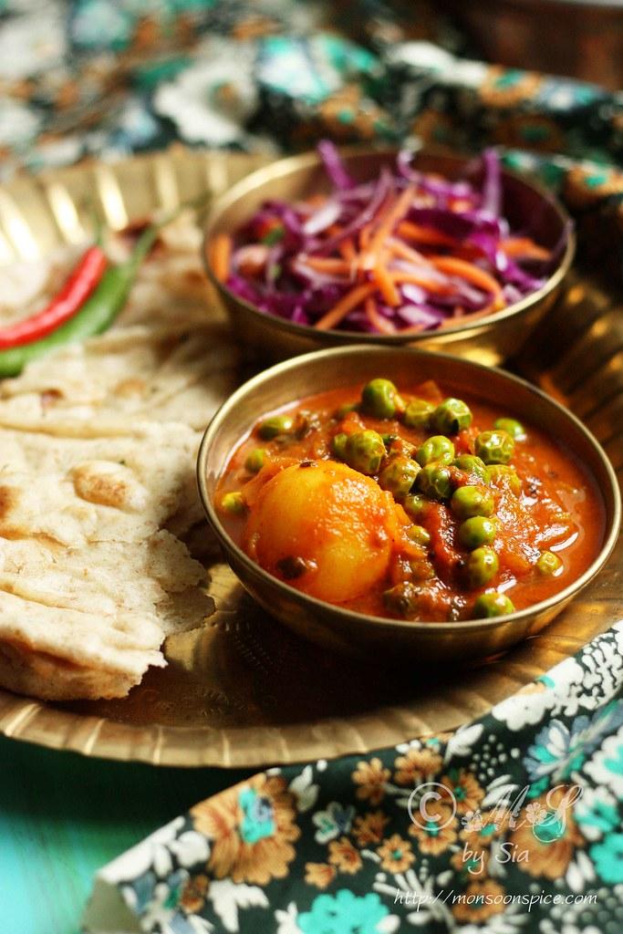 ... of Spices...: Aloo Matar Recipe   Simple Vegan Potato and Peas Curry