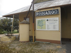 Pinnaroo only became settled AFTER the railway arrived in 1906. The old railway station is now part of the town museum. South Australia.