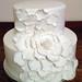 ruffled rose wedding cake 1