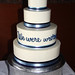 we were written wedding cake