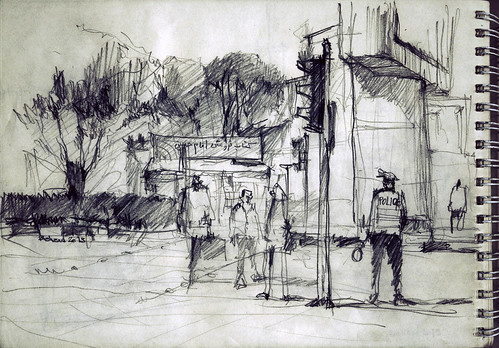 Imam Hossein Square (Dolat Portal- دروازه دولت) 5 by Behzad Bagheri Sketches