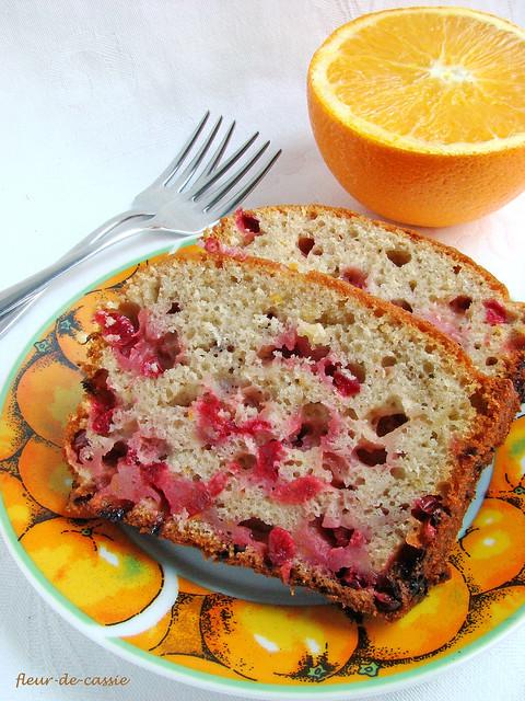 бруснично-апельсиновый кекс 1