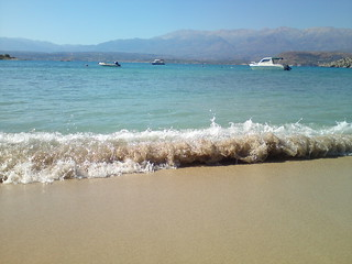 Image de Marathi (Μαράθι) Plage d'une longueur de 78 mètres. sea vacation beach mobile sand surf diary greece crete marathi море пляж песок отпуск крит прибой греция