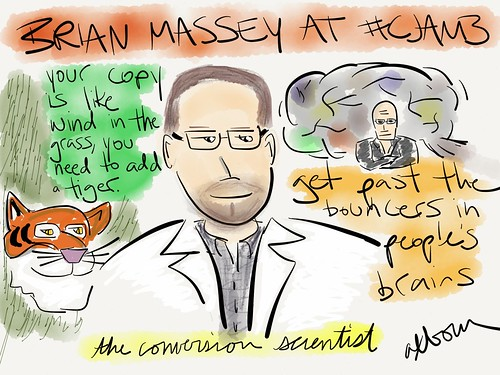 Sketch of conversion scientist Brian Massey @bmassey at #cjam3