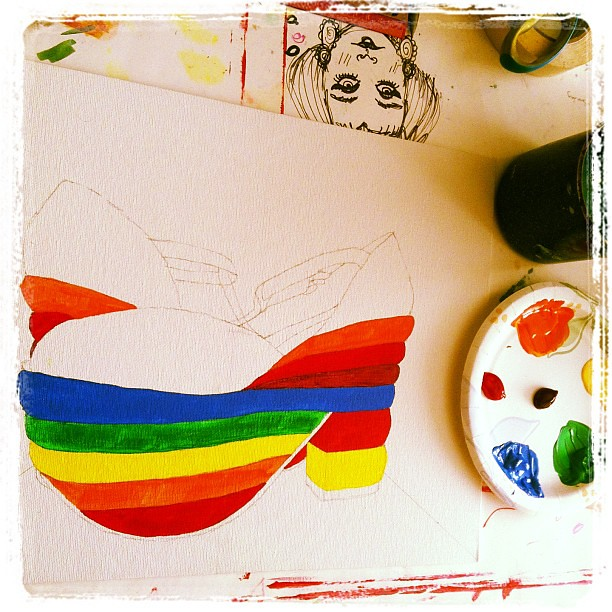rainbow platform painting beginning