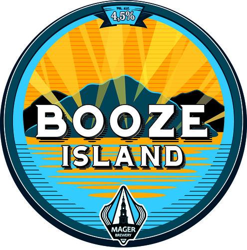 Booze Island label