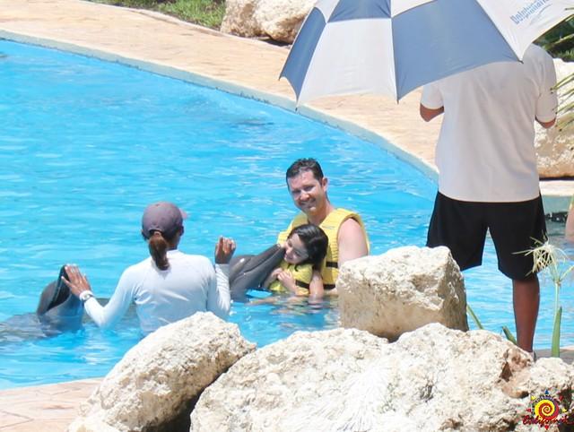 Nadando con delfines Cancun