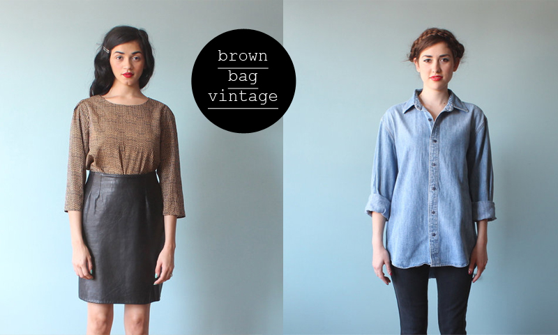 brown bag vintage shop etsy