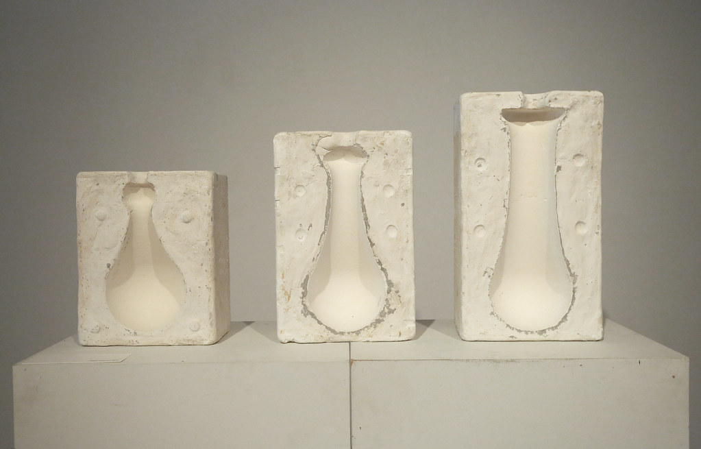 Molds used to cast the ceramic vessels.
