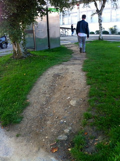 Desire path - Crawley station