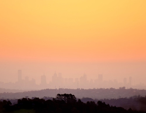 city sunset sky weather skyline haze nikon skies cityscape view skyscrapers australia melbourne victoria vic hazy kangarooground d5100 nikond5100 phunnyfotos