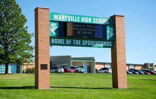 Marysvillw High School sign