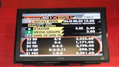 Rocket Reign Explodes To Blow Up The Old Meadowlands Tote Board For Good In Nightcap--Pays $366.60
