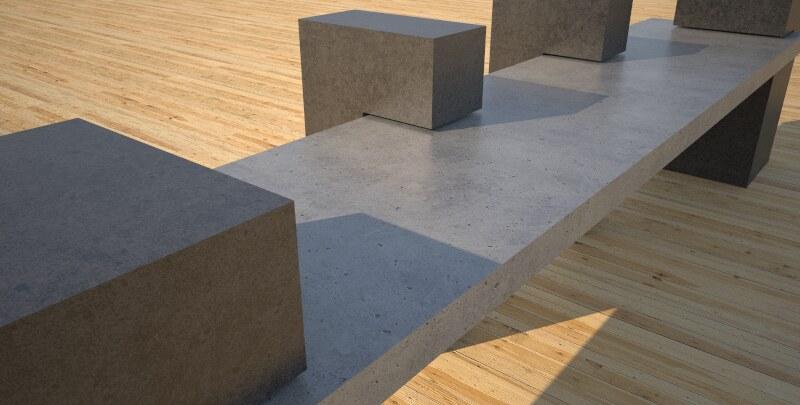 Very Unique Concrete Park Bench Concept Design And Produc