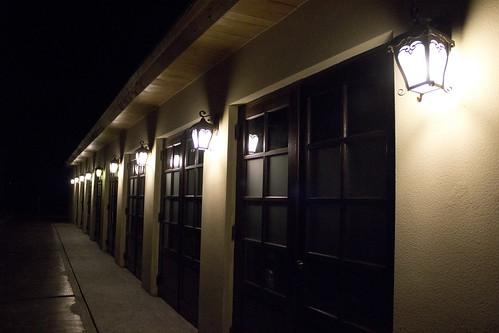 16 飯店珍饌廳夜晚外面走廊