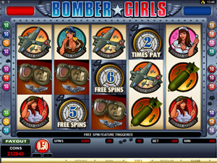 Bomber Girls Free Spins