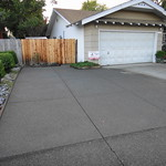 Sand Wash Exposed Aggregate Driveway Extension In Vacaville