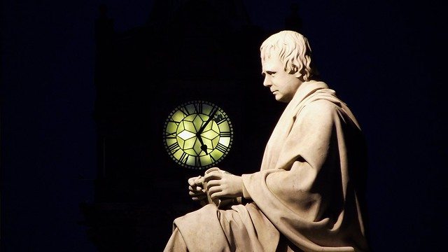 Sir Walter and the Balmoral Clock, winter evening