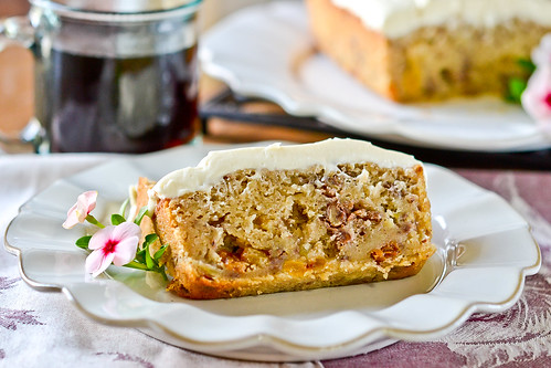 Apple Spice Cake with Cream Cheese Icing | Full Fork Ahead