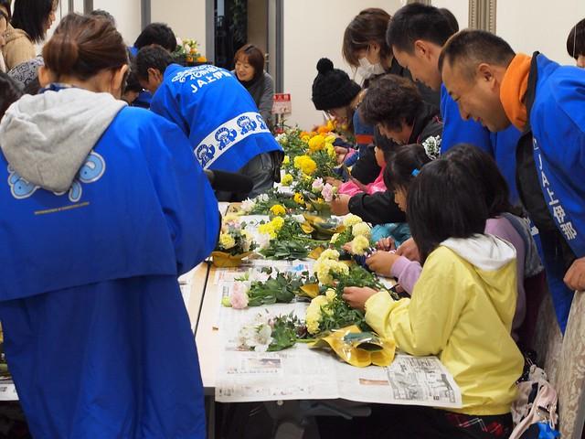 2011.11.10 JA上伊那まつり フラワーアレンジメント