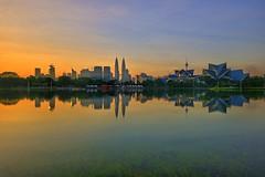 Sunrise at Titiwangsa Lake Garden, Kuala Lumpur