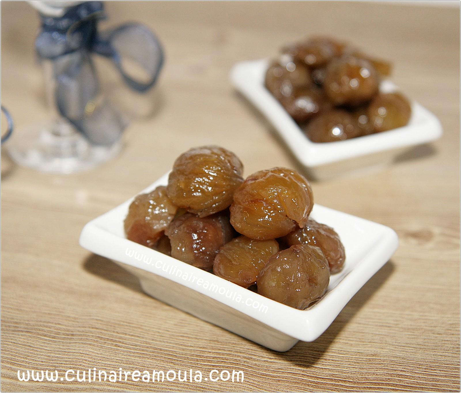 Marron glacé fait maison  http://www.culinaireamoula.com/article-marrons-glaces-fait-maison-121296826.html