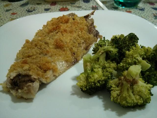 caballa al horno con brocoli #comidas #recetas